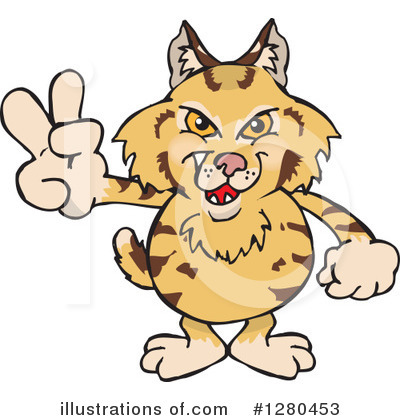 Bobcat Clipart #1280453 by Dennis Holmes Designs