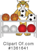 Bobcat School Mascot Clipart #1361641 by Toons4Biz