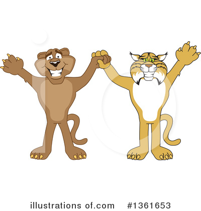 Cougar Mascot Clipart #1361653 by Toons4Biz