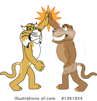 Cougar Mascot Clipart #1361654 by Toons4Biz