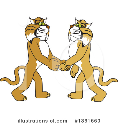 Bobcat School Mascot Clipart #1361660 by Toons4Biz