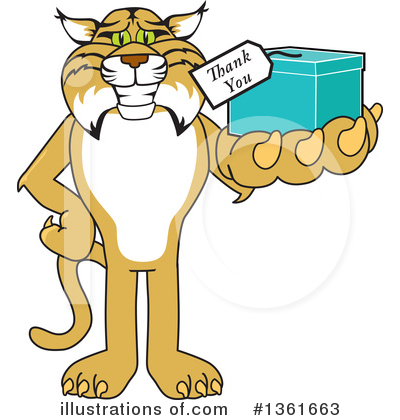 Bobcat School Mascot Clipart #1361663 by Toons4Biz