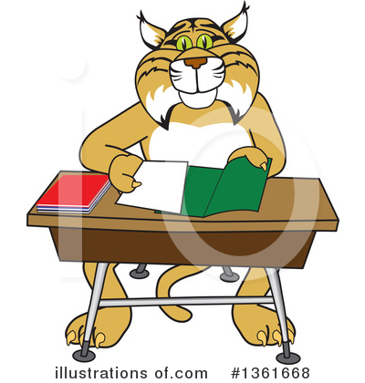 Bobcat School Mascot Clipart #1361668 by Toons4Biz