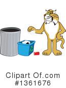 Bobcat School Mascot Clipart #1361676 by Toons4Biz