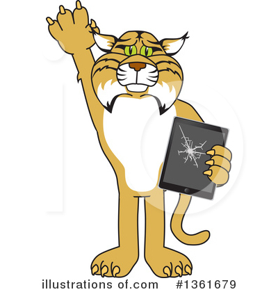 Bobcat School Mascot Clipart #1361679 by Toons4Biz