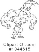 Royalty-Free (RF) Bodybuilder Clipart Illustration #1044615