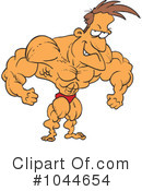 Royalty-Free (RF) Bodybuilder Clipart Illustration #1044654