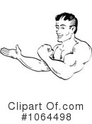 Royalty-Free (RF) Bodybuilder Clipart Illustration #1064498