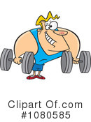 Royalty-Free (RF) Bodybuilder Clipart Illustration #1080585