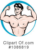 Royalty-Free (RF) Bodybuilder Clipart Illustration #1086819