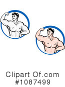 Royalty-Free (RF) Bodybuilder Clipart Illustration #1087499