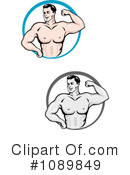 Royalty-Free (RF) Bodybuilder Clipart Illustration #1089849