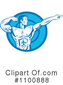 Royalty-Free (RF) bodybuilder Clipart Illustration #1100888