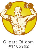 Royalty-Free (RF) bodybuilder Clipart Illustration #1105992