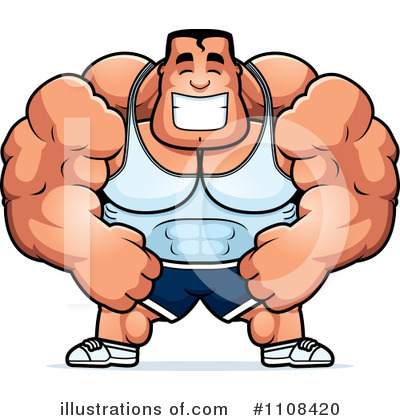 Royalty-Free (RF) Bodybuilder Clipart Illustration by Cory Thoman - Stock Sample #1108420