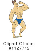 Royalty-Free (RF) Bodybuilder Clipart Illustration #1127712