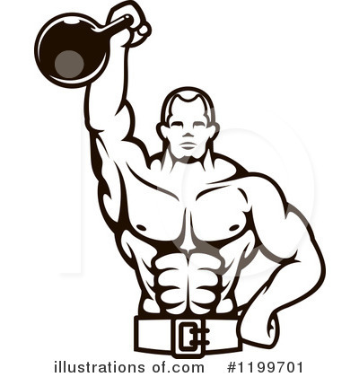 Bodybuilder Clipart #1199701 by Vector Tradition SM
