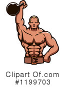 Bodybuilder Clipart #1199703 by Vector Tradition SM