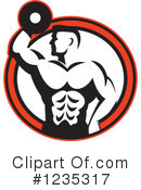 Bodybuilder Clipart #1235317 by patrimonio