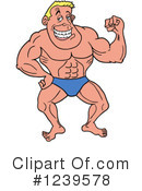 Bodybuilder Clipart #1239578 by LaffToon