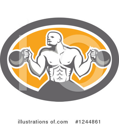 Kettlebells Clipart #1244861 by patrimonio