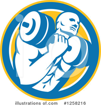 Weightlifting Clipart #1258216 by patrimonio