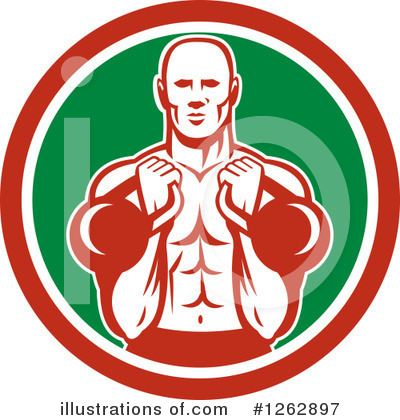 Weightlifting Clipart #1262897 by patrimonio