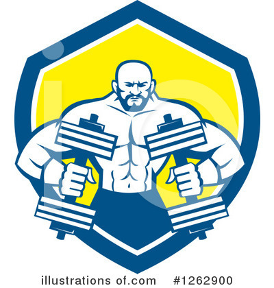 Bodybuilder Clipart #1262900 by patrimonio