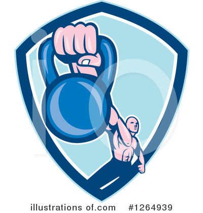 Weightlifting Clipart #1264939 by patrimonio