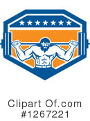 Bodybuilder Clipart #1267221 by patrimonio
