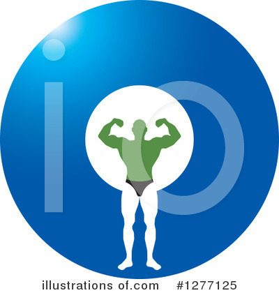 Bodybuilder Clipart #1277125 by Lal Perera