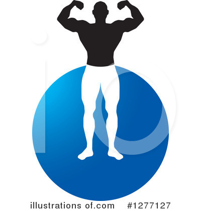 Bodybuilder Clipart #1277127 by Lal Perera