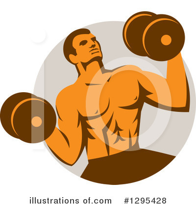Weightlifting Clipart #1295428 by patrimonio