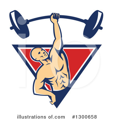 Weightlifting Clipart #1300658 by patrimonio
