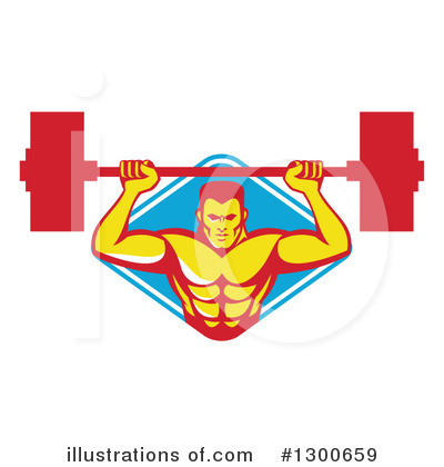 Weightlifting Clipart #1300659 by patrimonio