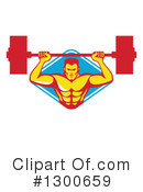 Royalty-Free (RF) Bodybuilder Clipart Illustration #1300659
