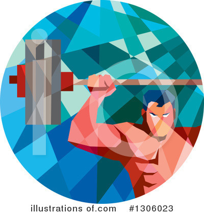 Weightlifting Clipart #1306023 by patrimonio