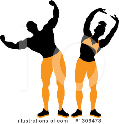 Bodybuilder Clipart #1306473 by Lal Perera