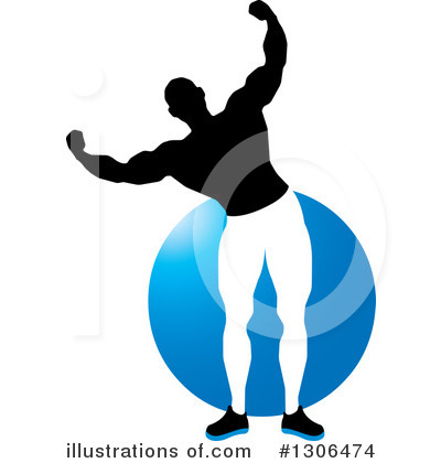 Royalty-Free (RF) Bodybuilder Clipart Illustration by Lal Perera - Stock Sample #1306474