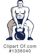 Bodybuilder Clipart #1336040 by patrimonio