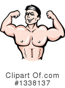 Bodybuilder Clipart #1338137 by Vector Tradition SM