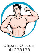 Bodybuilder Clipart #1338138 by Vector Tradition SM