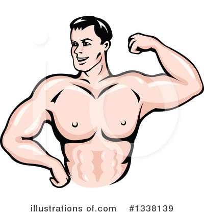 Bodybuilder Clipart #1338139 by Vector Tradition SM