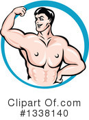 Bodybuilder Clipart #1338140 by Vector Tradition SM