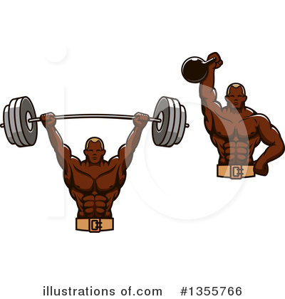 Royalty-Free (RF) Bodybuilder Clipart Illustration by Vector Tradition SM - Stock Sample #1355766