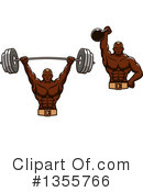 Bodybuilder Clipart #1355766 by Vector Tradition SM