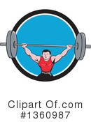 Bodybuilder Clipart #1360987 by patrimonio