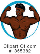 Bodybuilder Clipart #1365382 by Vector Tradition SM