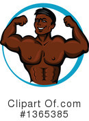 Bodybuilder Clipart #1365385 by Vector Tradition SM