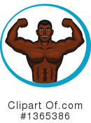 Bodybuilder Clipart #1365386 by Vector Tradition SM